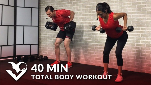 40 Min Total Body Workout With Weights Dumbbell Training Strength Workout At Home For Women Men Hasfit