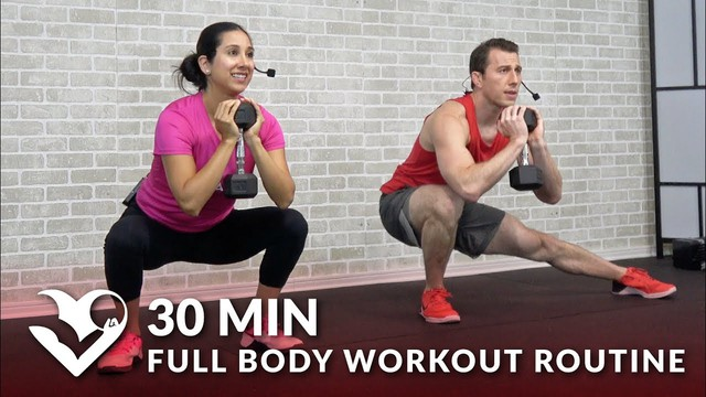 30 Minute Full Body Workout Routine At Home Total Body Strength Training Workout With Weights Hasfit